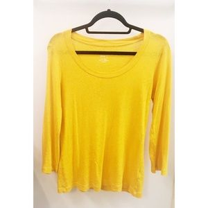 J Crew Mustard Yellow Painter Tee